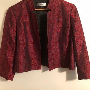 Kasper Women's Red Open Front Blazer Jacket Sz 16
